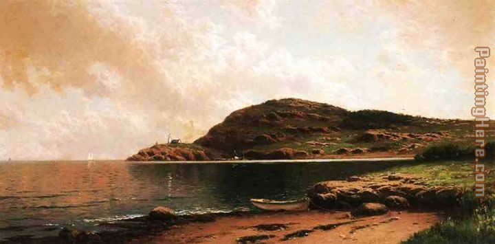Beached Rowboat painting - Alfred Thompson Bricher Beached Rowboat art painting