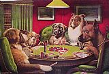 Cassius Marcellus Coolidge - Dogs Playing Poker
