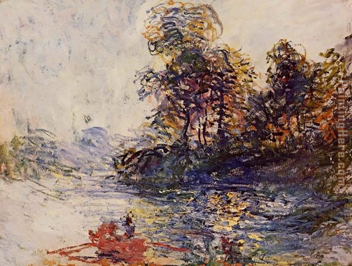 The River painting - Claude Monet The River art painting