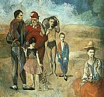 Pablo Picasso - Family at Saltimbanquesc