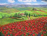 Unknown Artist - TUSCANY POPPIES