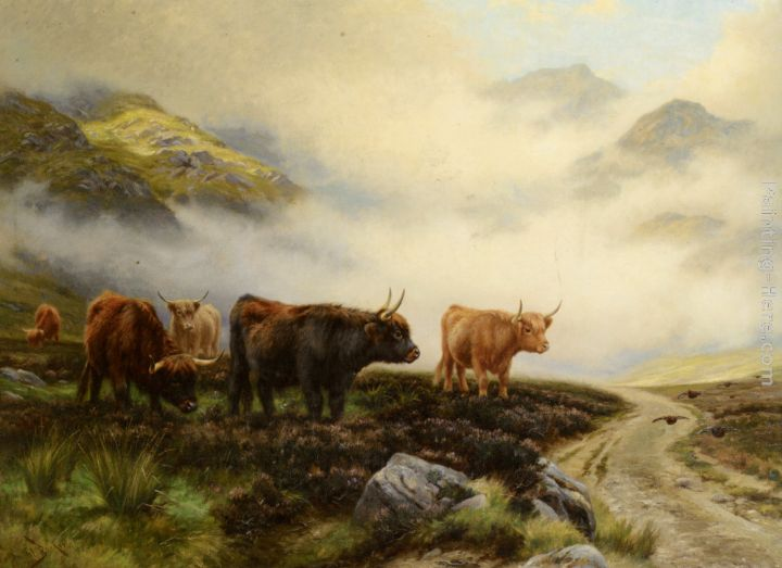 Highland Cattle Oil Paintings - Antiques, Art and Collectibles
