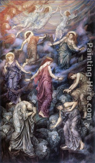 Kingdom of Heaven painting - Evelyn de Morgan Kingdom of Heaven art painting
